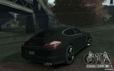 Porsche Panamera Turbo para GTA 4 vista de volta