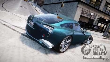 TVR Sagaris para GTA 4 vista superior