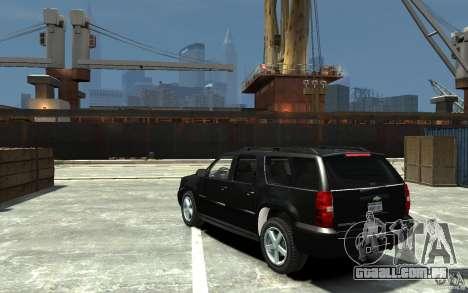 Chevrolet Suburban 2008 (beta) para GTA 4 traseira esquerda vista