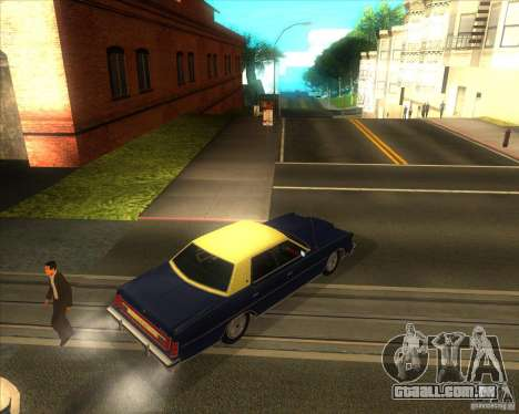 Ford LTD Brougham 4 door 1975 para GTA San Andreas traseira esquerda vista