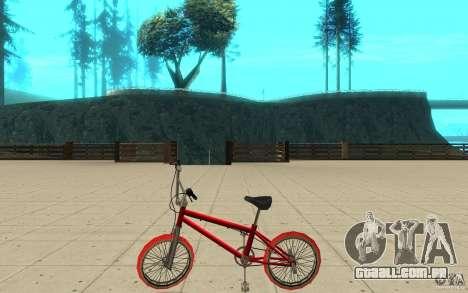 Zeros BMX RED tires para GTA San Andreas esquerda vista