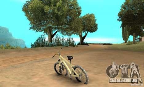 Specialized P.3 Mountain Bike v 0.8 para GTA San Andreas traseira esquerda vista