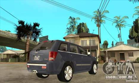 Jeep Grand Cherokee SRT8 v2.0 para GTA San Andreas vista direita
