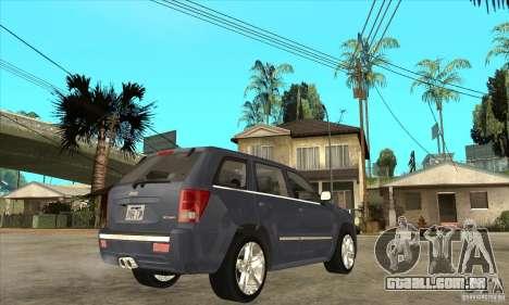 Jeep Grand Cherokee SRT8 v2.0 para GTA San Andreas vista direita