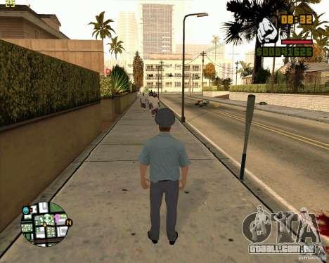 Pele polícia russa para GTA San Andreas por diante tela