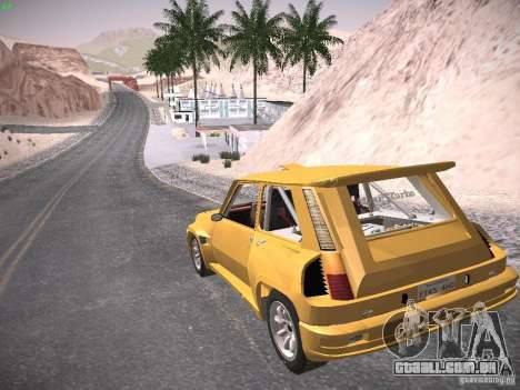 Renault 5 Turbo para GTA San Andreas esquerda vista