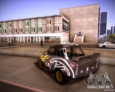 Trabant drag para GTA San Andreas esquerda vista