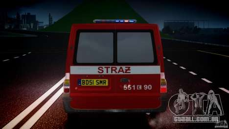 Ford Transit Polish Firetruck [ELS] para GTA 4 vista inferior