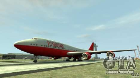 Fly Kingfisher Airplanes witout logo para GTA 4