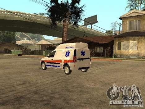 Dacia Logan Ambulanta para GTA San Andreas traseira esquerda vista