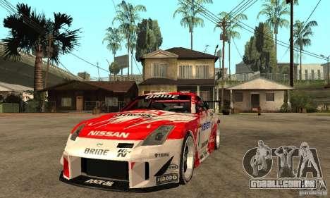 Nissan 350Z Xanavi para GTA San Andreas vista traseira