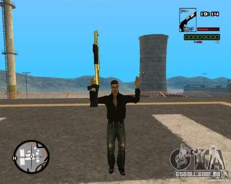 Shotgun Gold para GTA San Andreas segunda tela