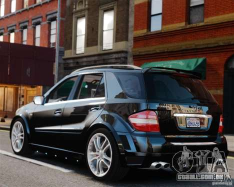 Mercedes-Benz ML Brabus 2009 para GTA 4 esquerda vista