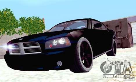 Dodge Charger Fast Five para GTA San Andreas vista superior