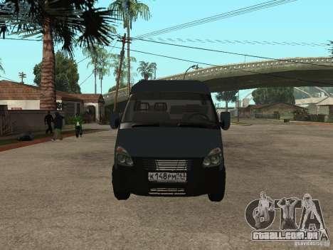 Gazela 2705 negócios para GTA San Andreas esquerda vista