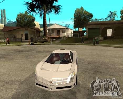 Cadillac Cien para GTA San Andreas vista traseira