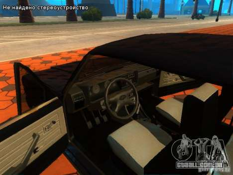 VAZ 2107 para GTA San Andreas vista inferior