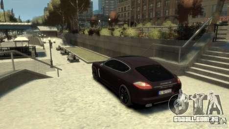 PORSCHE Panamera Turbo para GTA 4 esquerda vista