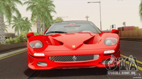 Ferrari F50 v1.0.0 Road Version para GTA San Andreas vista direita