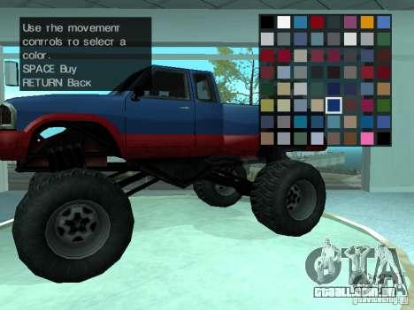 Salão do automóvel para GTA San Andreas segunda tela