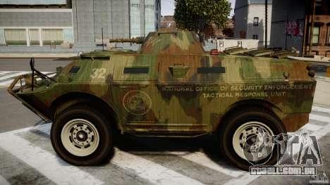Camo APC para GTA 4 esquerda vista