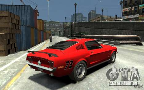 Ford Mustang Fastback 302did Cruise O Matic para GTA 4 vista direita