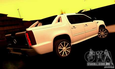 Cadillac Escalade Ext para GTA San Andreas traseira esquerda vista