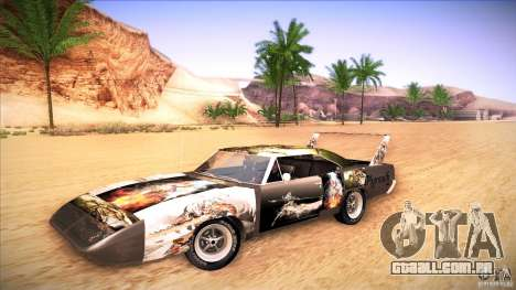 Plymouth Roadrunner Superbird Custom para GTA San Andreas vista direita