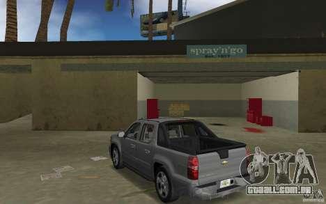 Chevrolet Avalanche 2007 para GTA Vice City vista traseira esquerda