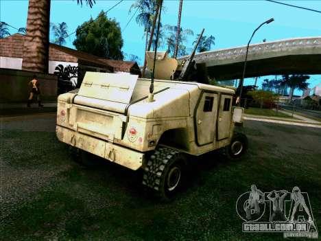 Hummer H1 Irak para GTA San Andreas traseira esquerda vista