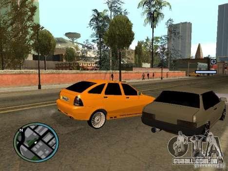 Lada Priora DagStailing para GTA San Andreas traseira esquerda vista