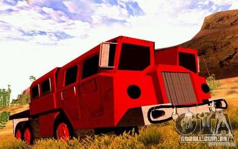 Maz-7310 Civil versão estreita para GTA San Andreas esquerda vista