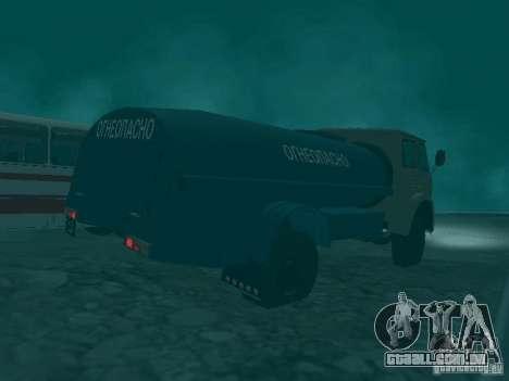 MAZ 503 para GTA San Andreas vista traseira