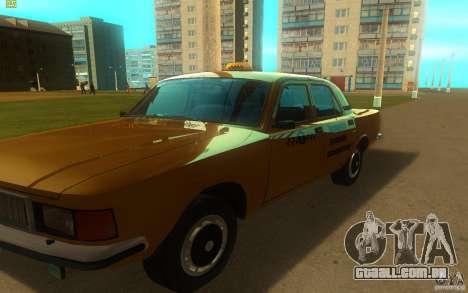 GAZ Volga 3102 táxi para GTA San Andreas esquerda vista