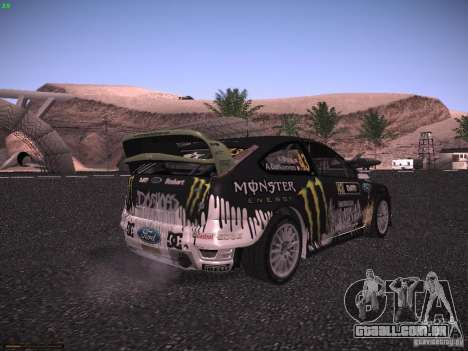 Ford Focus RS Monster Energy para GTA San Andreas traseira esquerda vista