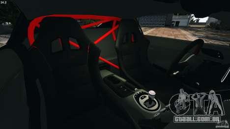 Audi R8 GT 2012 para GTA 4 vista interior