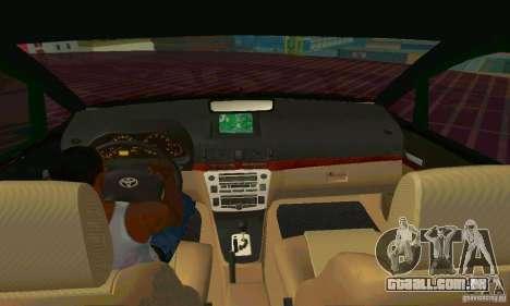 Toyota Innova Lowrider Rims 2 para GTA San Andreas vista interior