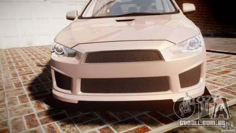 Mitsubishi Lancer Evolution X para GTA 4 vista superior