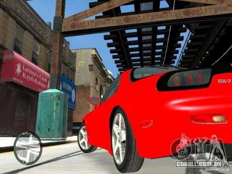 Mazda RX-7 Type RZ para GTA 4 vista de volta