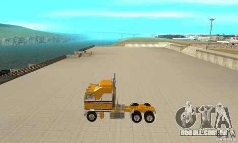 Kenworth K100C Aerodyne para GTA San Andreas esquerda vista