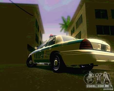 Ford Crown Victoria 2003 NYPD police para GTA San Andreas vista direita