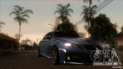 Lexus IS-F para GTA San Andreas vista traseira