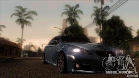 Lexus IS-F para GTA San Andreas vista traseira