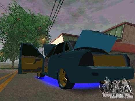 LADA 2170 Priora Gold Edition para GTA San Andreas traseira esquerda vista