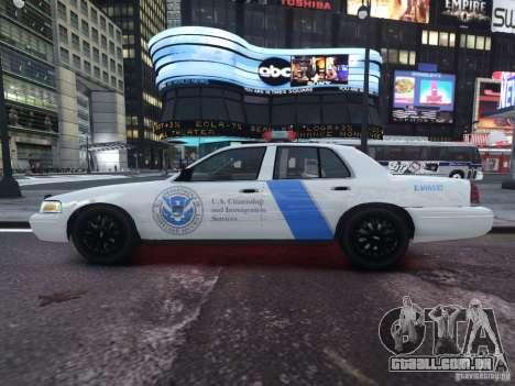 Ford Crown Victoria Homeland Security para GTA 4 esquerda vista