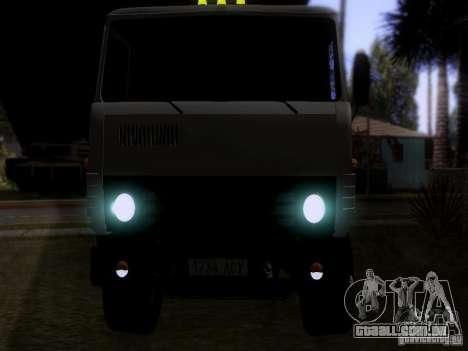 Tanque de leite 53212 KAMAZ para GTA San Andreas vista traseira