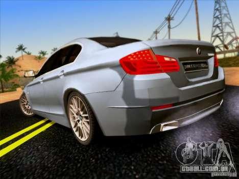 BMW 550i 2012 para GTA San Andreas vista direita