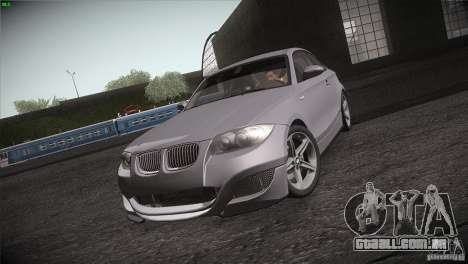 BMW 135i Coupe Road Edition para GTA San Andreas vista interior