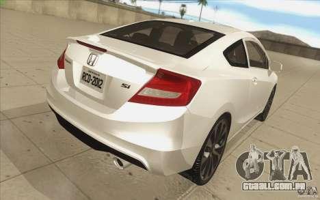 Honda Civic SI 2012 para GTA San Andreas vista superior