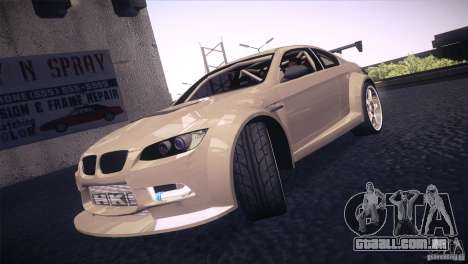 BMW M3 E92 Tuned para GTA San Andreas vista superior